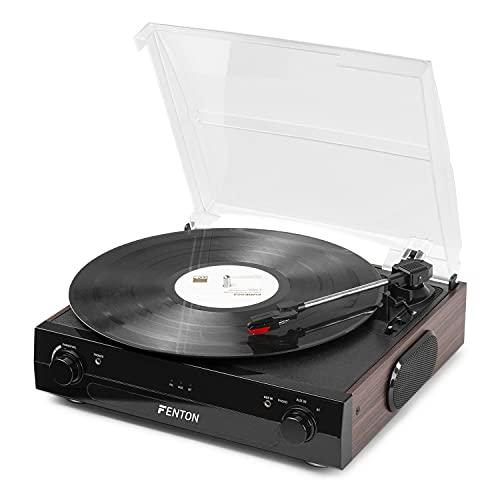 Occasion - Fenton RP102B Platine vinyle Bluetooth – Noir Bois