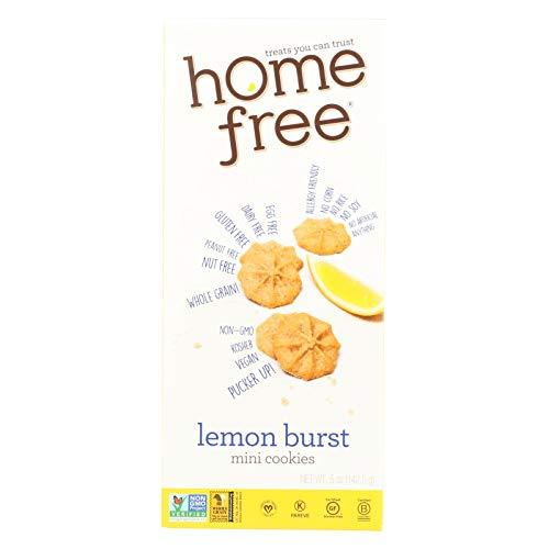 Homefree Gluten Free Lemon Burst Mini Cookie, 5 Ounce - 6 per case.