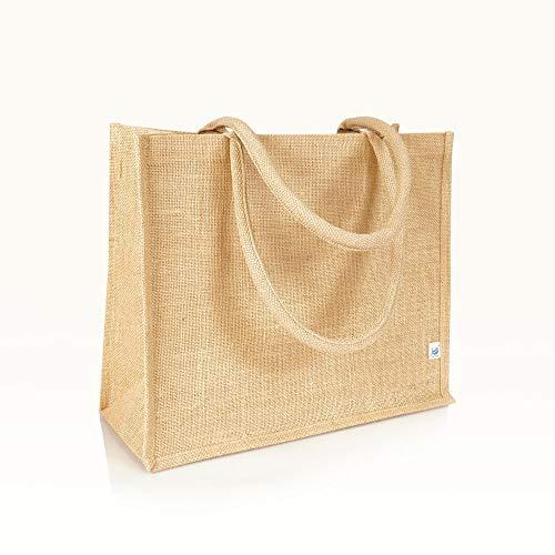 Jute statt Plastik Original | JB1415M | Jutetasche | Jutebeutel Einkaufstasche Handtasche | Fair & Nachhaltig | Shopping Einkauf