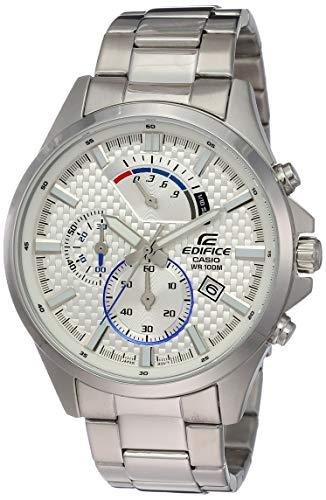 Casio Efv-530d-7avudf Reloj Analógico para Hombre Colección Edifice Caja De Acero Inoxidable Esfera Color Plateado