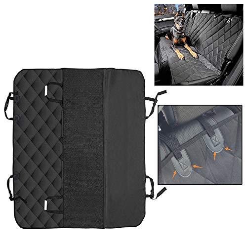 JKNMRL Hundesitzbezug für den Rücksitz des Autos, wasserdicht, Kratzfest und verstellbar, Befestigungsgurt und einfach für die meisten Modelle geeignet,Schwarz