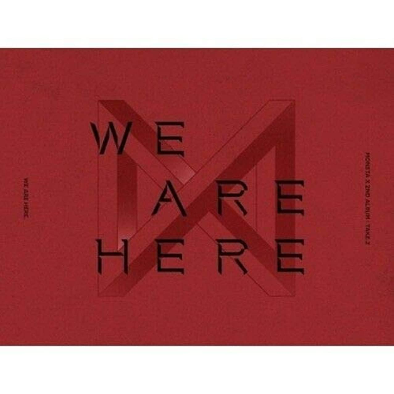 Monsta X - [Take.2 We are Here] 2nd Album 4 Ver Set CD+1p Poster+134p Booklet+PhotoCard+Pre-Order Benefit(1p Unit PhotoCard+1p Clear Special Card+1p Polaroid)+Extra PhotoCard+Tracking K-POP Sealed