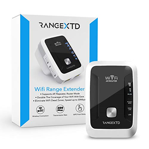 RangeXTD WiFi Range Extender – Up to 300Mbps, Covers up to 230 sq.ft – Dual Band/Single Band 2.4Ghz/5GHz, Wireless Signal Booster