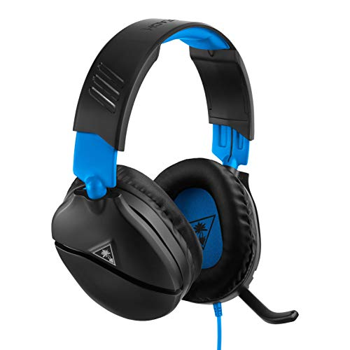 Turtle Beach Recon 70P Cuffie Gaming, PS4, Xbox One, PC e Nintendo Switch, Nero/Blu