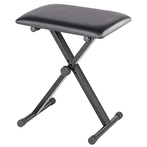 Yaheetech Keyboardbank Faltbare Piano Hocker Klavier Hocker Sitzhöhenverstellbar schwarz