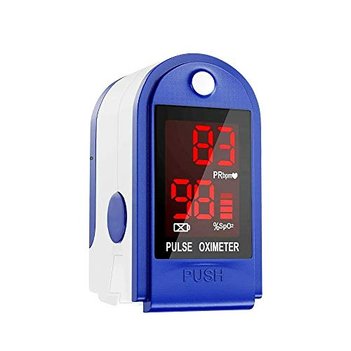 Grborn Punta del Dedo Digital Oxímetro de Pulso Pantalla LED Sensor de oxígeno en Sangre Saturación SpO2 Monitor Medidor de para el hogar de Ancianos Amante de los Deportes