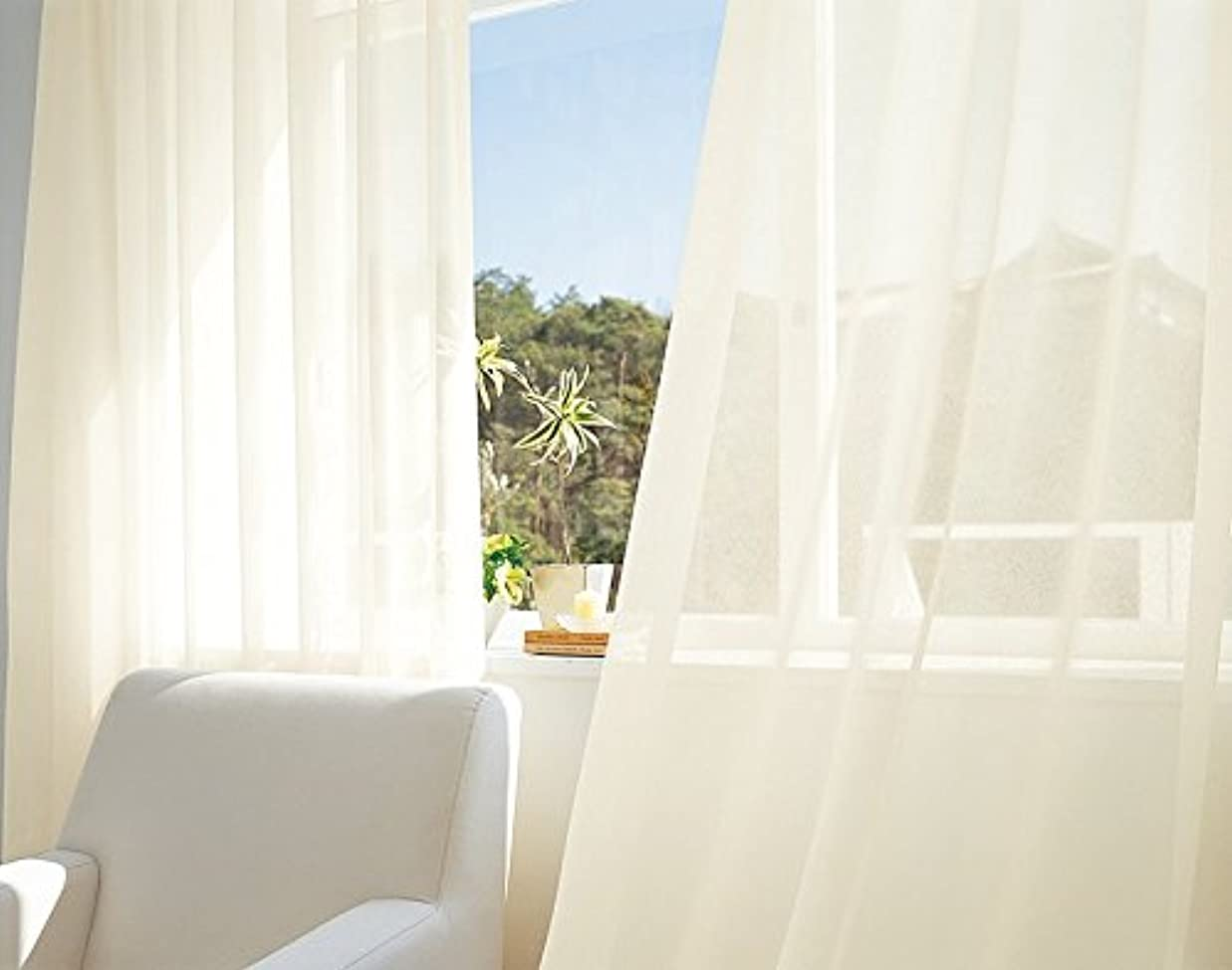 ささいな友だちぬるい東リ 美しい光沢感が特長のサブレボイル カーテン2倍ヒダ KSA60416 幅:200cm ×丈:110cm (2枚組)オーダーカーテン