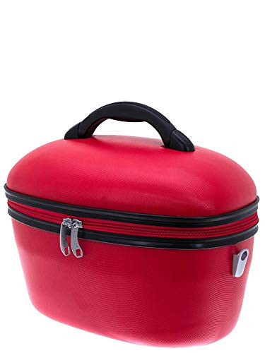 Davidt's Hard Shell Bright Red Vanity Case
