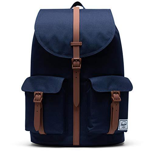 Herschel Dawson Backpack, Peacoat/Saddle Brown, Classic 20.5L