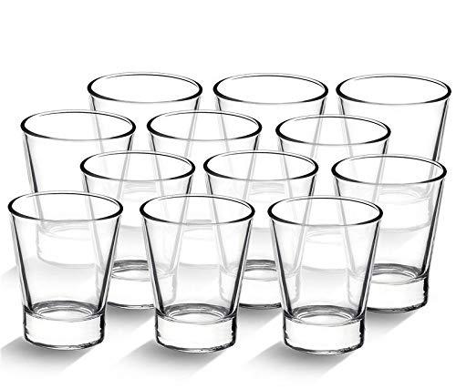 12 Caffeino Bormioli Bicchieri Tazzine Per Caffè Espresso In Vetro Trasparente Capacità 8.5 cl Altezza 7.1 cm