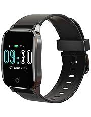 Smartwatch Android Orologio Fitness Uomo Activity Tracker Smart Watch Impermeabile IP68 Cardiofrequenzimetro da Polso con Contapassi Calorie Cronometro Notifiche Messaggi per Android IOS