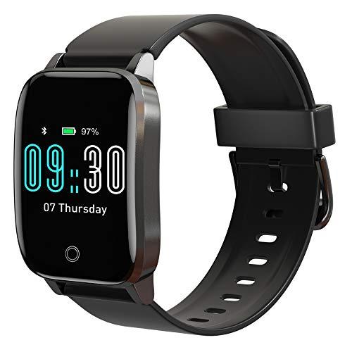 Smartwatch Hombre, Reloj Inteligente Mujer Impermeable IP68, Relojes Deportivos con Monitor de Sueño Pulsómetros Cronómetros Caloría Podómetro Pulsera Actividad Inteligente para iOS y Android