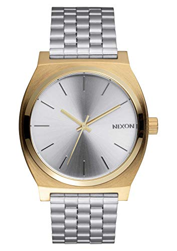 Nixon Unisex Time Teller Japanese quartz Stainless Steel watches Gold / Silver / Silver A045