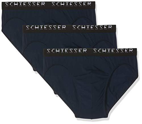 Schiesser Herren Slips, 3er Pack, Blau (Navy 815), 6 (Herstellergröße:Large)