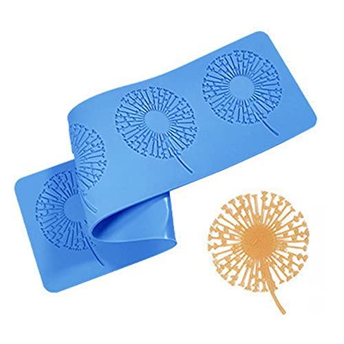 TROYSINC Molde de silicona con forma de punta, estera de relieve, para decoración de tartas, tartas, diseño de flores (estilo B)