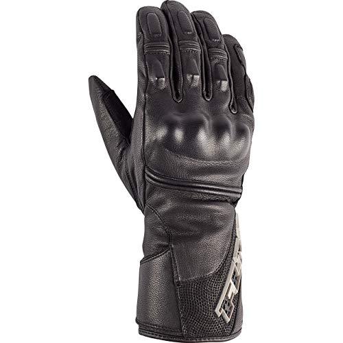 FLM Motorradhandschuhe lang Motorrad Handschuh Tour Lederhandschuh 1.1 schwarz (kurze Finger) 10, Herren, Tourer, Ganzjährig