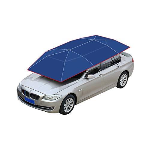 Autohoes Auto Cover Volledig Automatische Auto Cover Met Afstandsbediening Zonnescherm Regen Eenknops Start(grootte: 400 cm lang en 210 cm breed) marineblauw