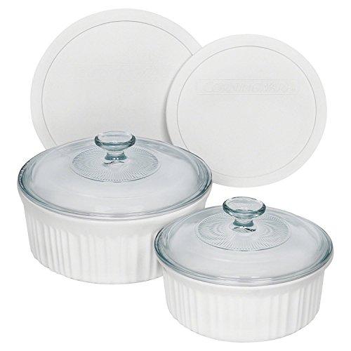 CorningWare 1094026 French 14-Piece Bakeware Set, White