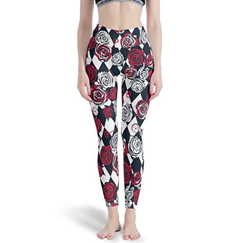 Huffle-Pickffle Pantalones de yoga multicolor duraderos – Pantalones cortos de playa para Cardio White XS