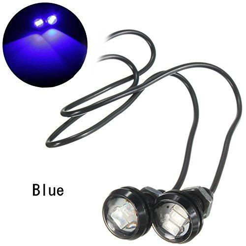 Alamor 12V 10W 5630 Led Eagle Eye Reverse Lampe De Voiture De Moto De La Porte Intérieure Lumières Décoratives-Bleu