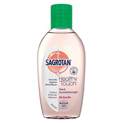 Sagrotan Hand-Desinfektionsgel Kamille & Lotus – Desinfektionsmittel für die Hände in handlicher Reisegröße – 3 x 50 ml Gel im praktischen Vorteilspack