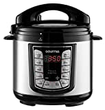 Gourmia GPC400 4 Qt Digital Multi-Mode SmartPot Pressure Cooker - 13 Cook Modes - Removable Pot - 24-Hour Delay Timer - Automatic Keep Warm - LCD Display - Pressure Sensor Lid Lock - Recipe Book