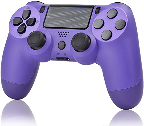 YU33 Wireless Controller Compatible with P-4 - YU33 Remote Joystick Gamepad Compatible with P-4 with Charging Cable and Two Motors (Purple, 2021,New)