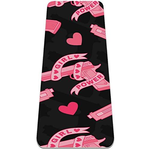 Eslifey Alfombrilla de yoga gruesa antideslizante para mujer y niña, de color rosa