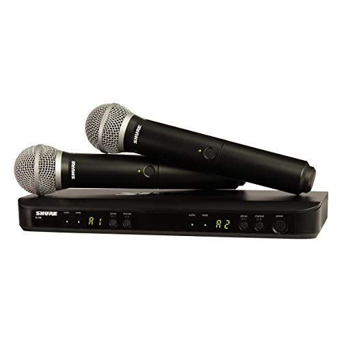 Shure BLX288/PG58 Dual Channel Wireless Microphone System with