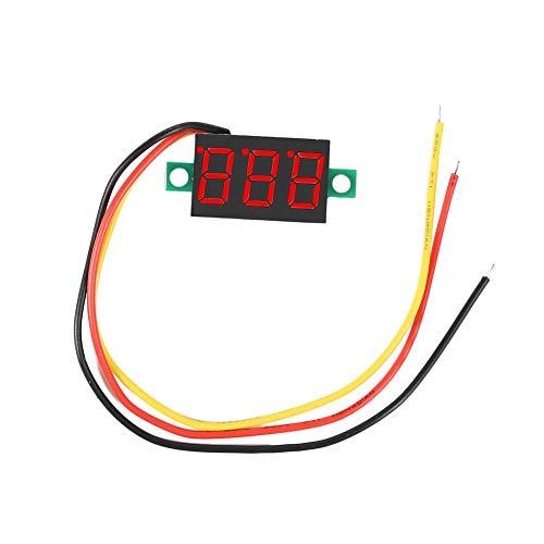 Mini voltímetro digital de 0,36 pulgadas, CC 0 V-100 V, 3 cables,...