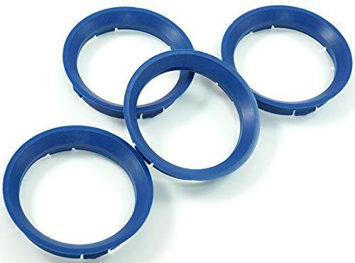 4x Zentrierringe 63 3-57 1 Blau 63,3mm auf 57,1mm kompatibel mit VW Seat Skoda Audi