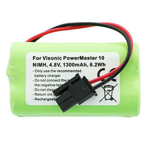 AccuCell - Batería para Visonic PowerMaster 10 (NiMH, 4,8 V, 1300 mAh, 6,2 WH)