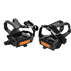 Tbest Nylon Cycling Pedals with Toe Cages