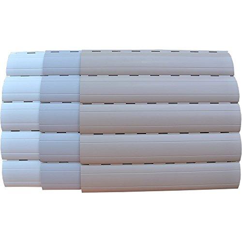 5 x 2 Meter PVC Rollladenlamelle Profil Rolladenlamelle Maxi 52mm Farbe: Weiß