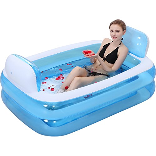 Bañera inflable plegable para adultos piscina para niños baño cómodo (Color :...