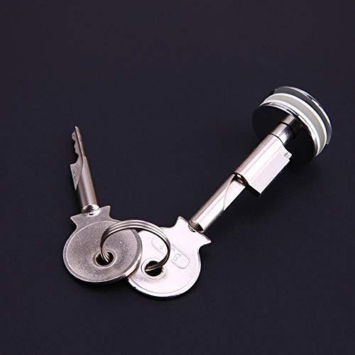 WNJ-TOOL, W-Nuanjun-rsg 1set Zink-Legierung Glas-Verschluss Vitrine Push-Vitrine Türzylinderschlösser Glasschiebetüren Push-Türbeschläge (Größe : 16mm)