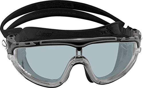 Cressi Skylight Gafas de Natación Anti-vaho, Unisex Adulto, Negro/Gris Lentes Ahumadas, Talla única