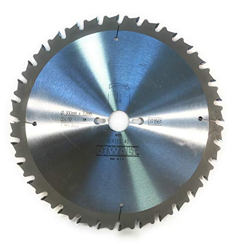 DeWalt DT1561-QZ Series 40 - Hoja de sierra (300 x 3,2 x 30 mm, 32HM POS10°)