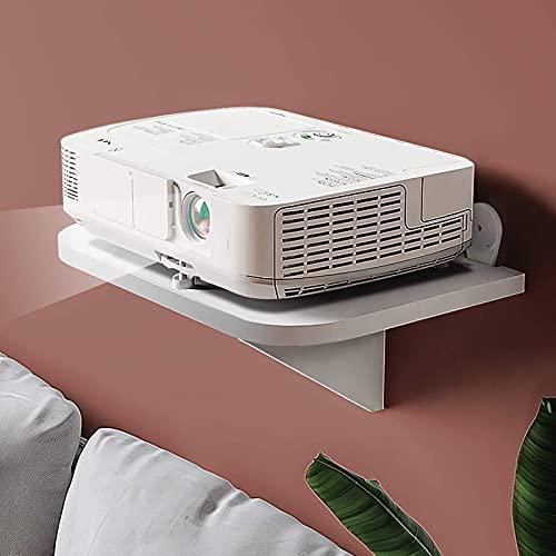 XCTLZG Estante Flotante Blanco para componentes de TV,Estante de Consola Multimedia de 2 Niveles montado en la Pared, para Cajas de Cable/enrutadores/Controles remotos/Reproductores de DVD Unidad