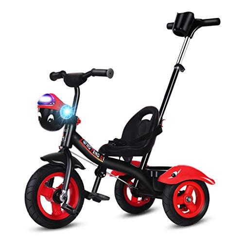Driewieler met duwstang wandelwagen kinderfiets kinderdriewielers