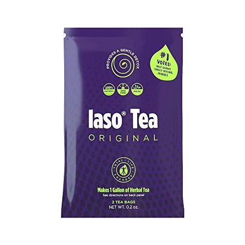 TLC Total Life Changes IASO Natural Herbal Detox Tea Bags - Single Pack (2 Tea Bags)Packaging May Vary Between Old & New in 2019