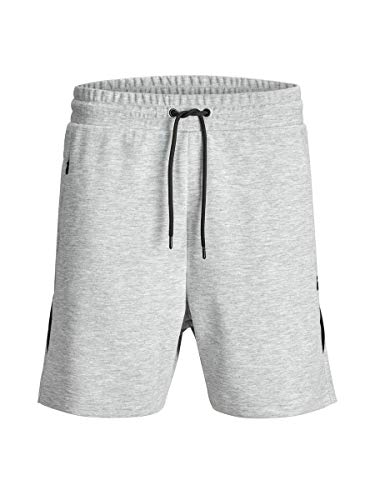 JACK & JONES Herren JJICLEAN JJSWEAT NB STS Sweatshorts Shorts, Light Grey Melange, M