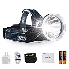 3 LIGHTING MODES. High bright(6H)-Low light(12H)-Strobe(8H), More mode are available. Waterproof Head Torch: Super bright Micro USB Waterproof Headlamp extensive LED output lifetime can up to 100,000 hours. Micro USB port charge with SOS whistle: Use...