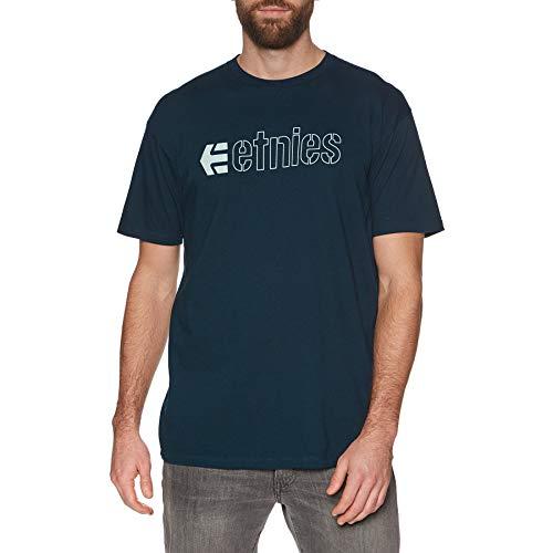 Etnies Ecorp Kurzarm T-Shirt in Marine Blau - Marine, L