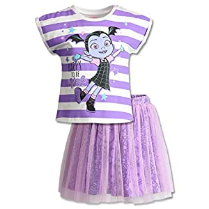 Disney Vampirina Toddler Girls' Short Sleeve T-Shirt & Skirt Clothing Set