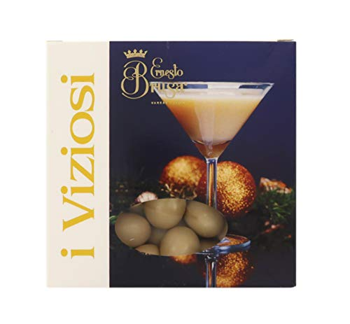 Ernesto Brusa Confetti con Mandorla tostata ricoperta di Cioccolato Bianco al Gusto Rum, Beige - Linea I Viziosi - 500 g