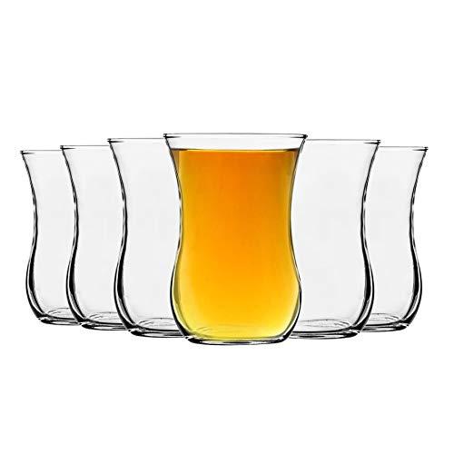 LAV Klasik de vidrio tazas de té para el café, bebidas calientes...