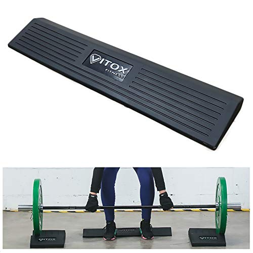 CKIDS Barbell Full Squat Block Heel Lift Wedge Solid Rubber Squat Ramp Excellent for Quadriceps Burning