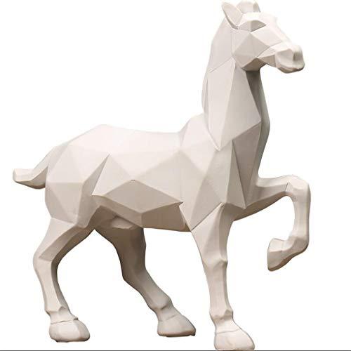SISIZHANG Handwerk Nordic Minimalistische Geometrische Origami Pferd Tierskulptur Dekoration Wohnzimmer TV Schrank Hotel Regal Display Produkte (Color : B)