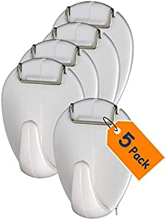 1InTheOffice Cubicle Hooks, 2 LB Capacity, 5/Pack, White